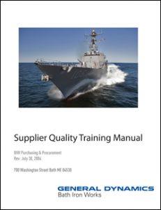 Supplier Quality Training Manual
